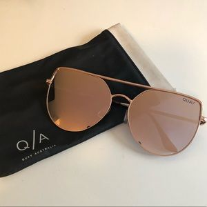 Quay Reflective Rose Gold Sunglasses